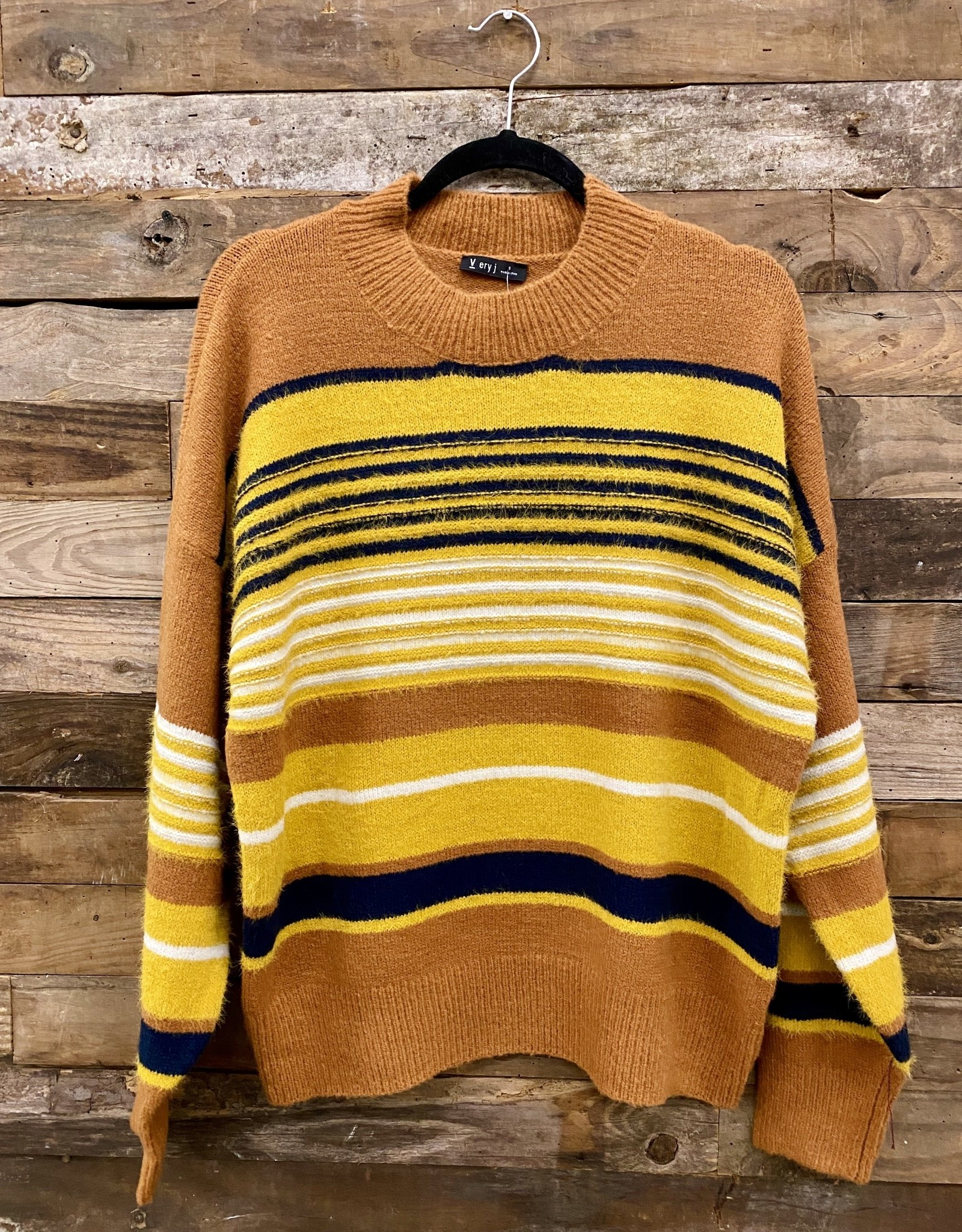 Halo Rust Stripe Sweater