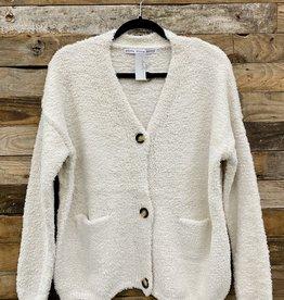 Halo Button Cream Sweater
