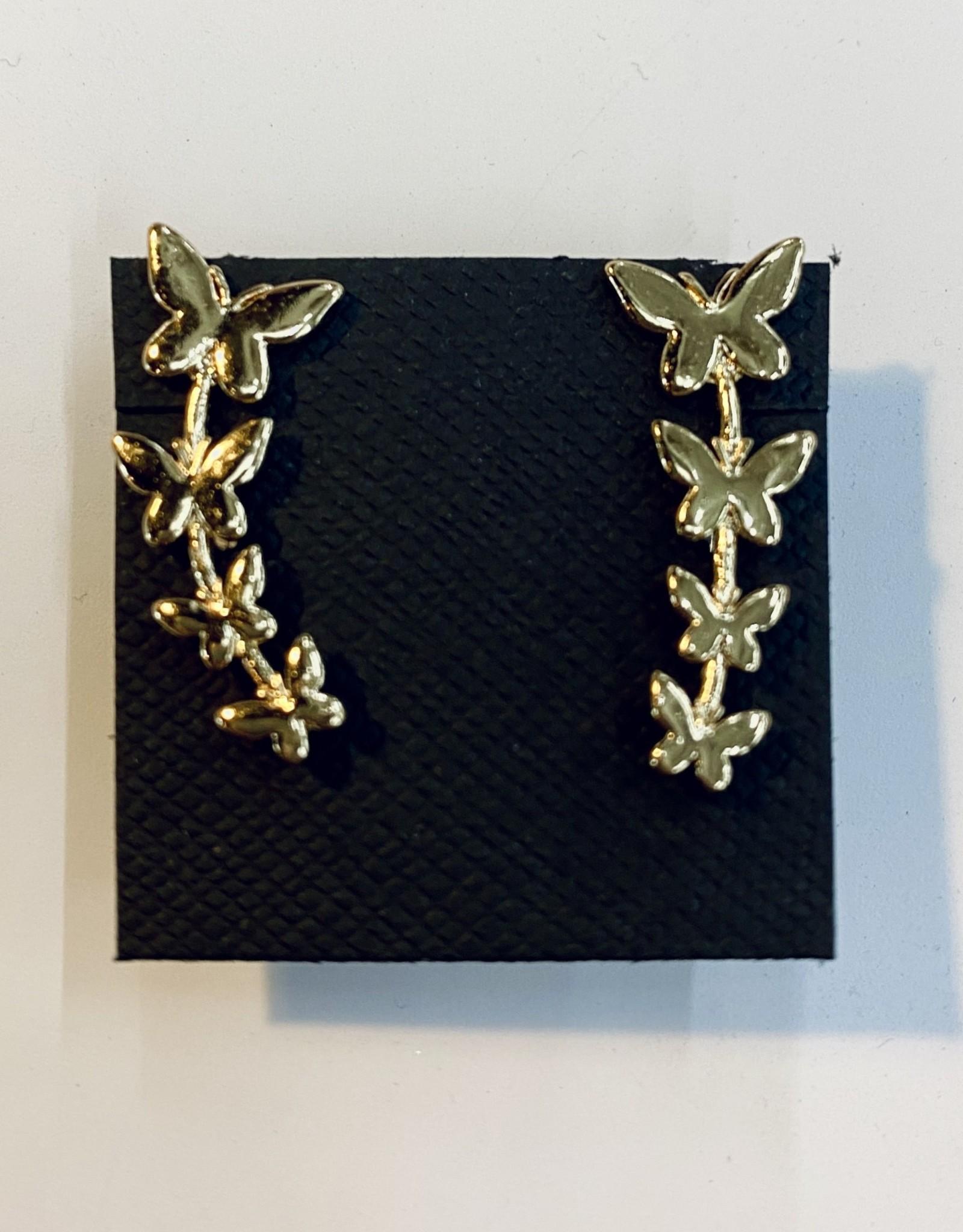 Halo Butterfly Line Earrings