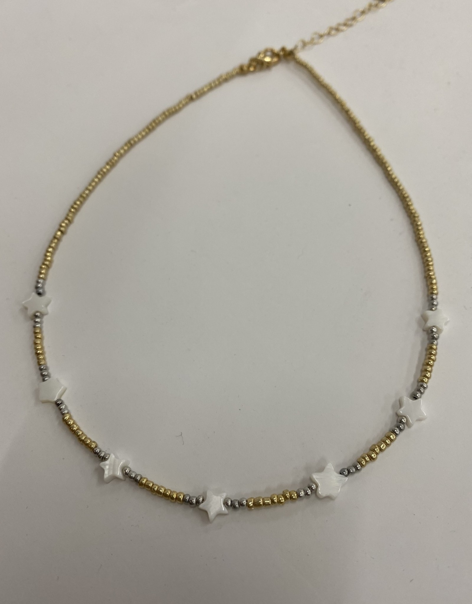 Halo White Star Necklace