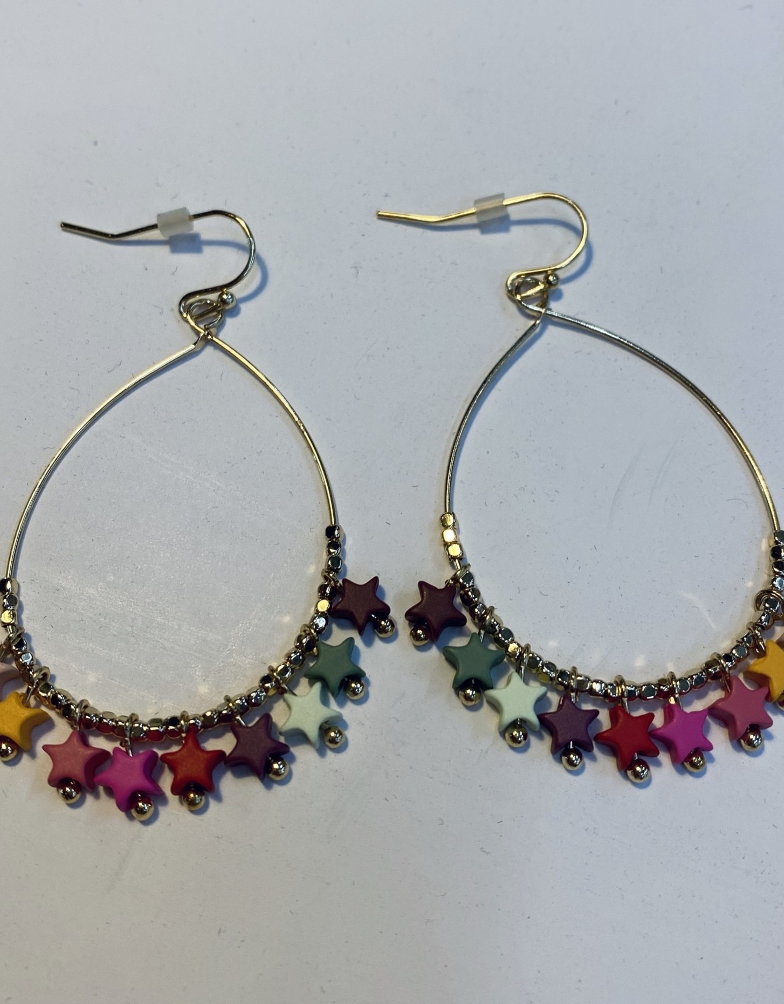 Halo Colorful Star Earrings