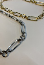 Halo Chain Necklace Silver