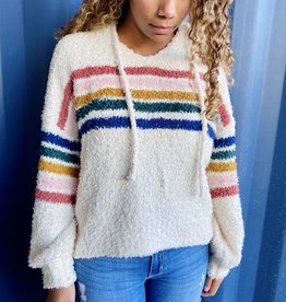 Halo Striped Hoodie Sweater