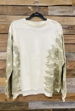 Halo Faded Olive Tiedye Top