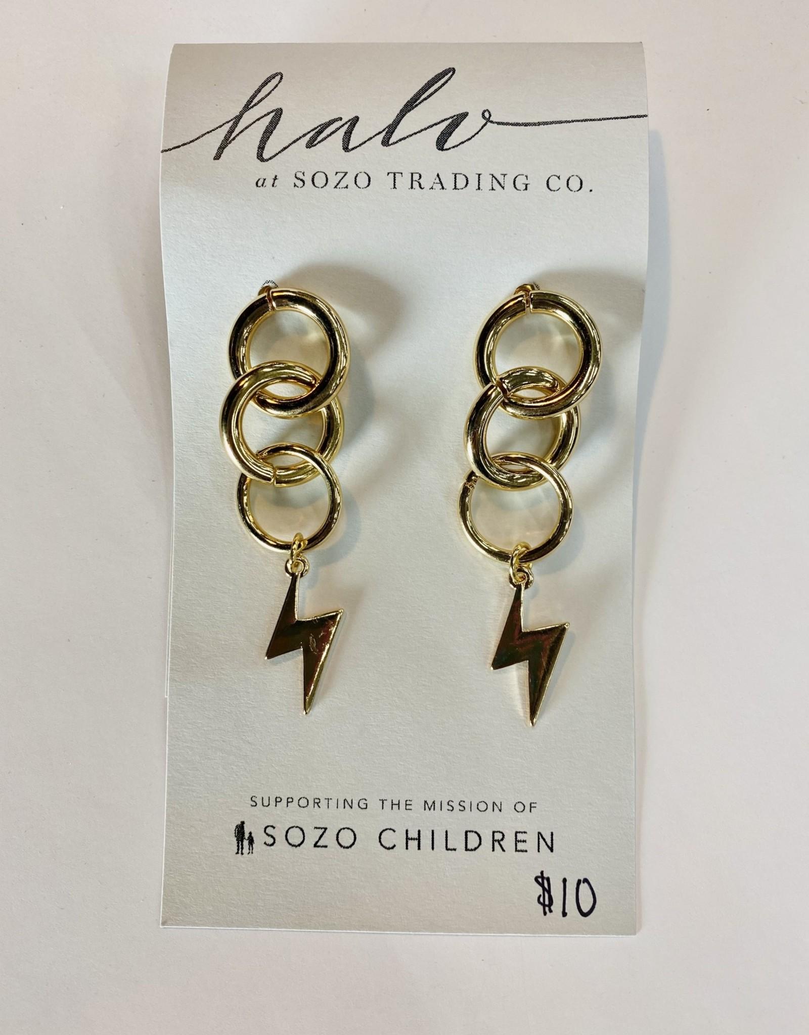 Halo Lightening Chain Earring
