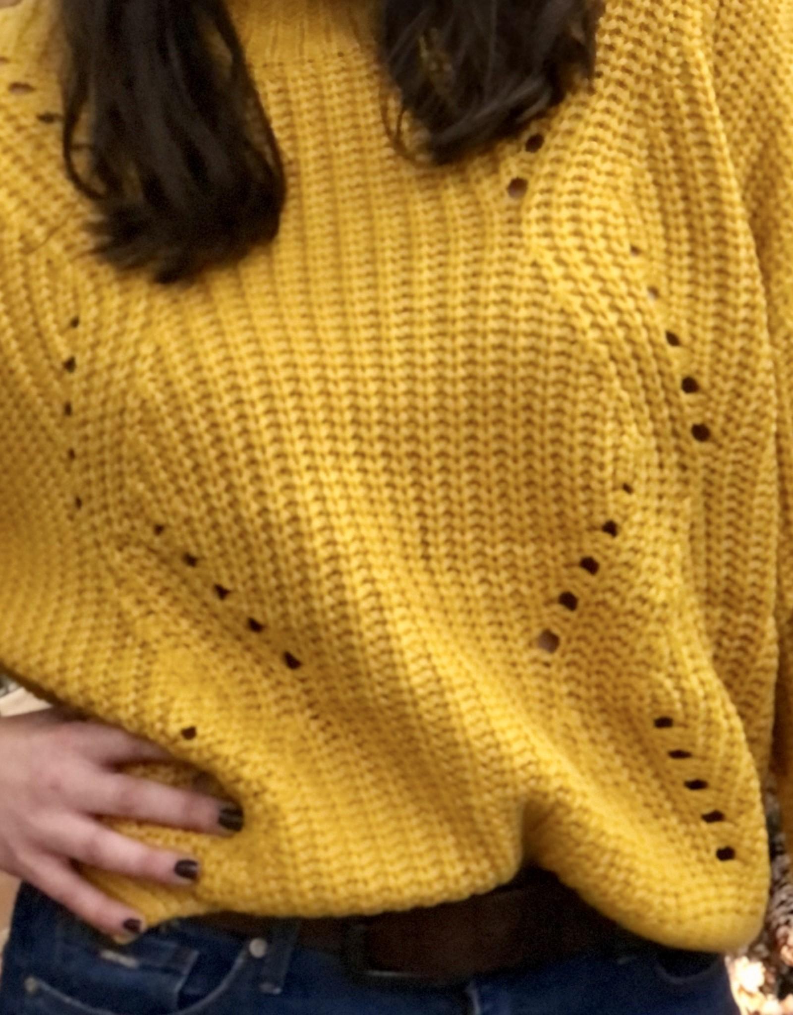 Halo Mustard Mock Neck Sweater