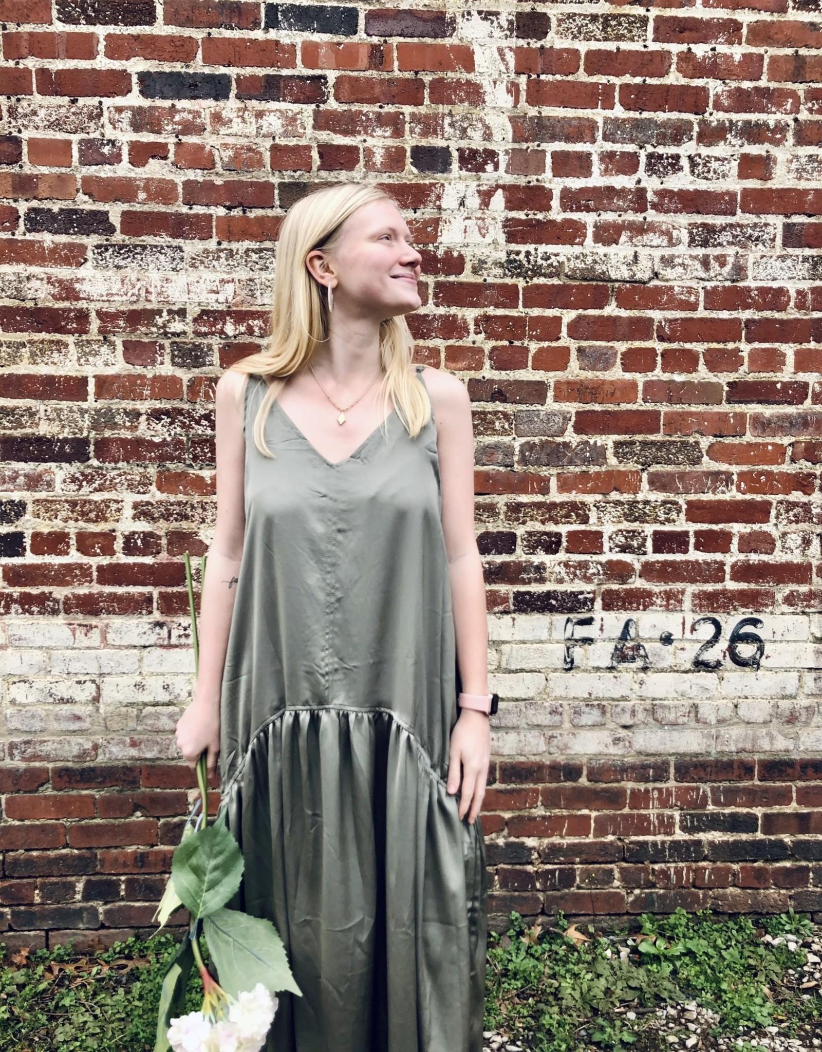 Halo Olive Midi Dress