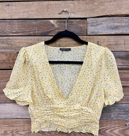 Halo Floral Rusched Top