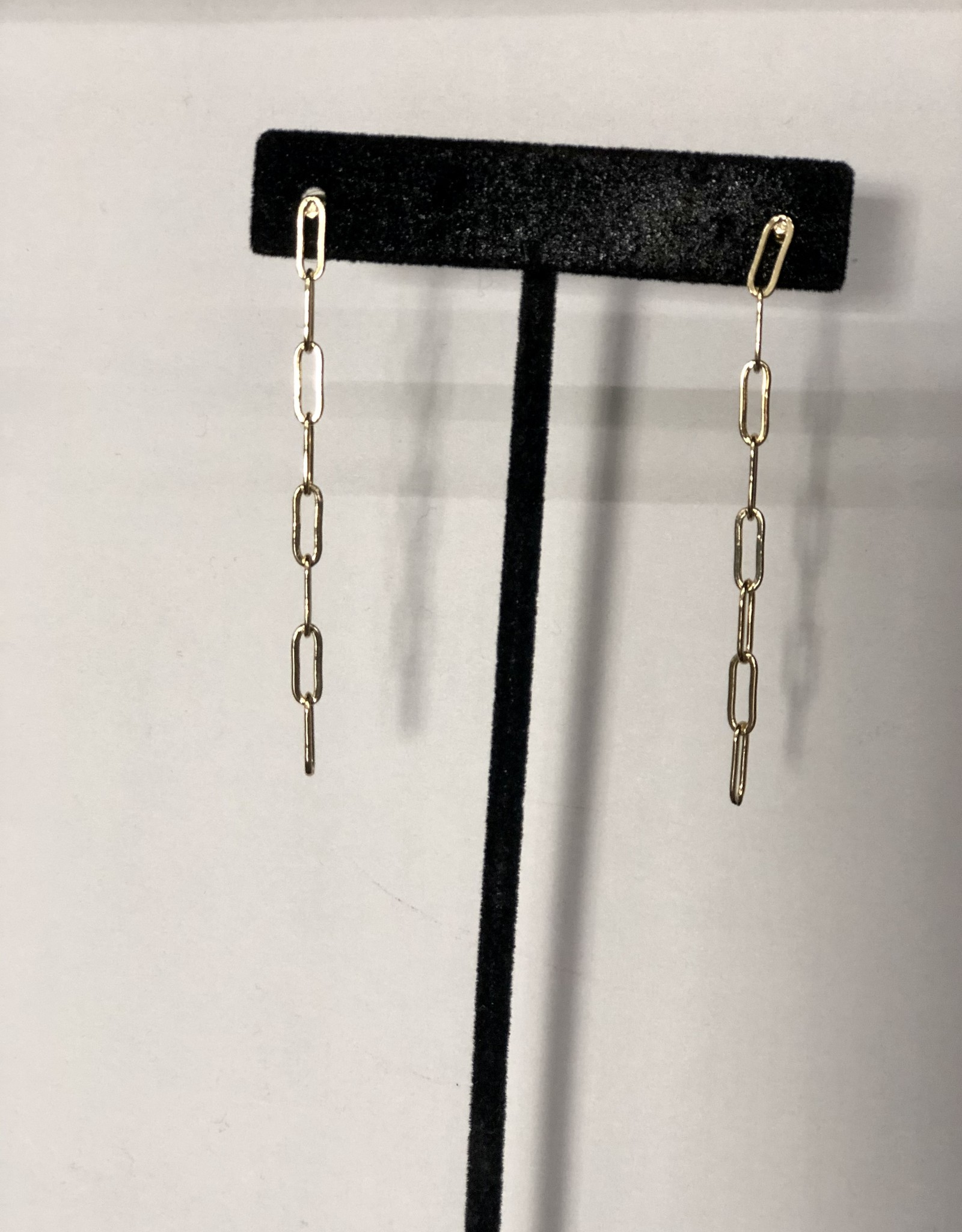 Halo Paper Clip Chain Earrings
