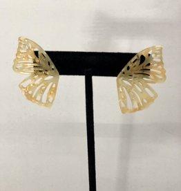 Halo Speckled Butterfly Earrings