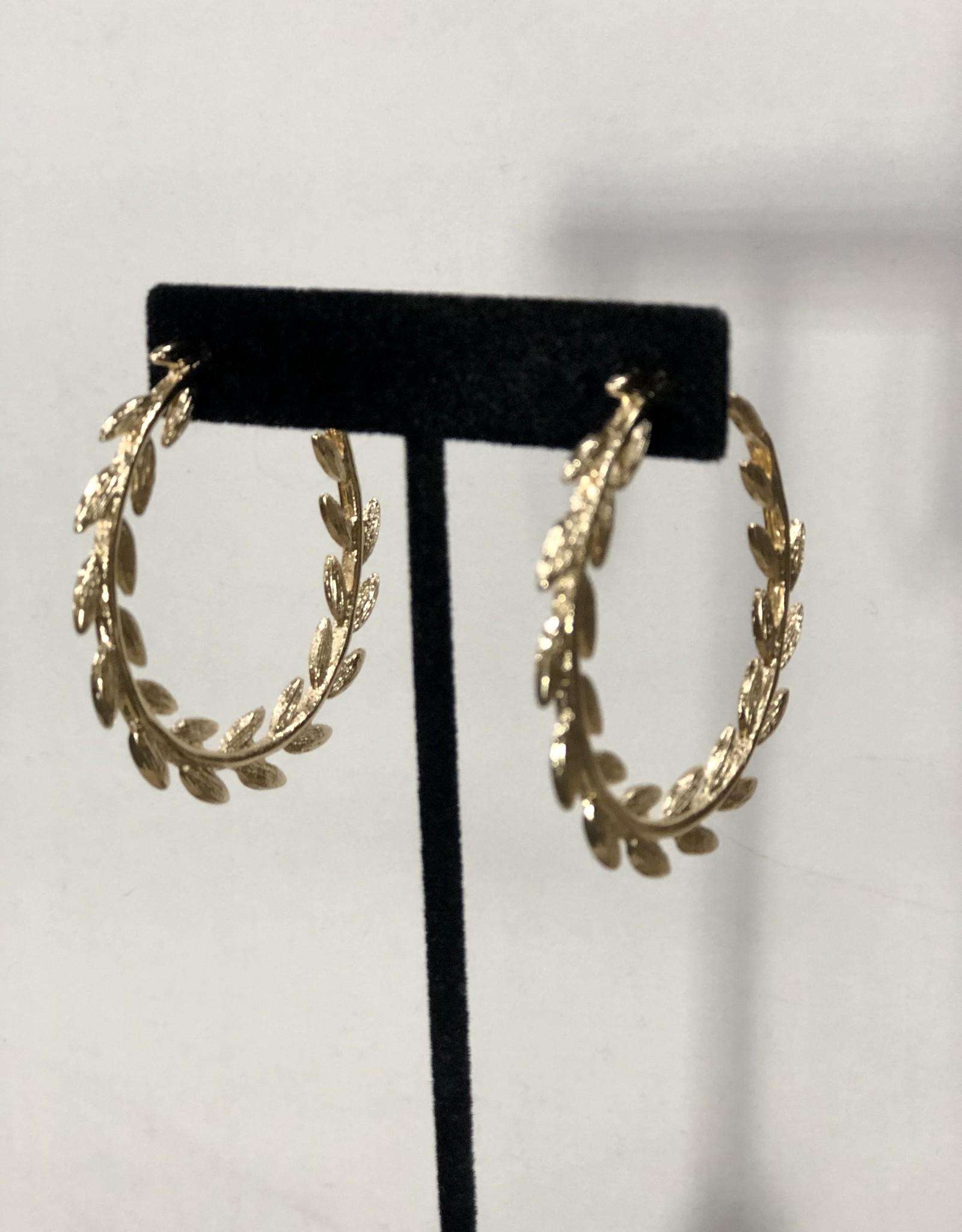 Halo Golden Wreath Hoops