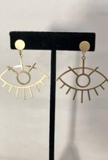Halo Gold Eye Earrings