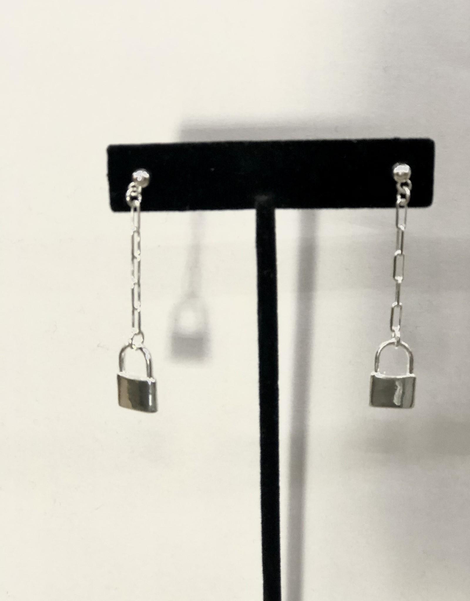 Halo Lock Earrings Silver