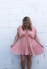 Halo Bubblegum Pleat Dress