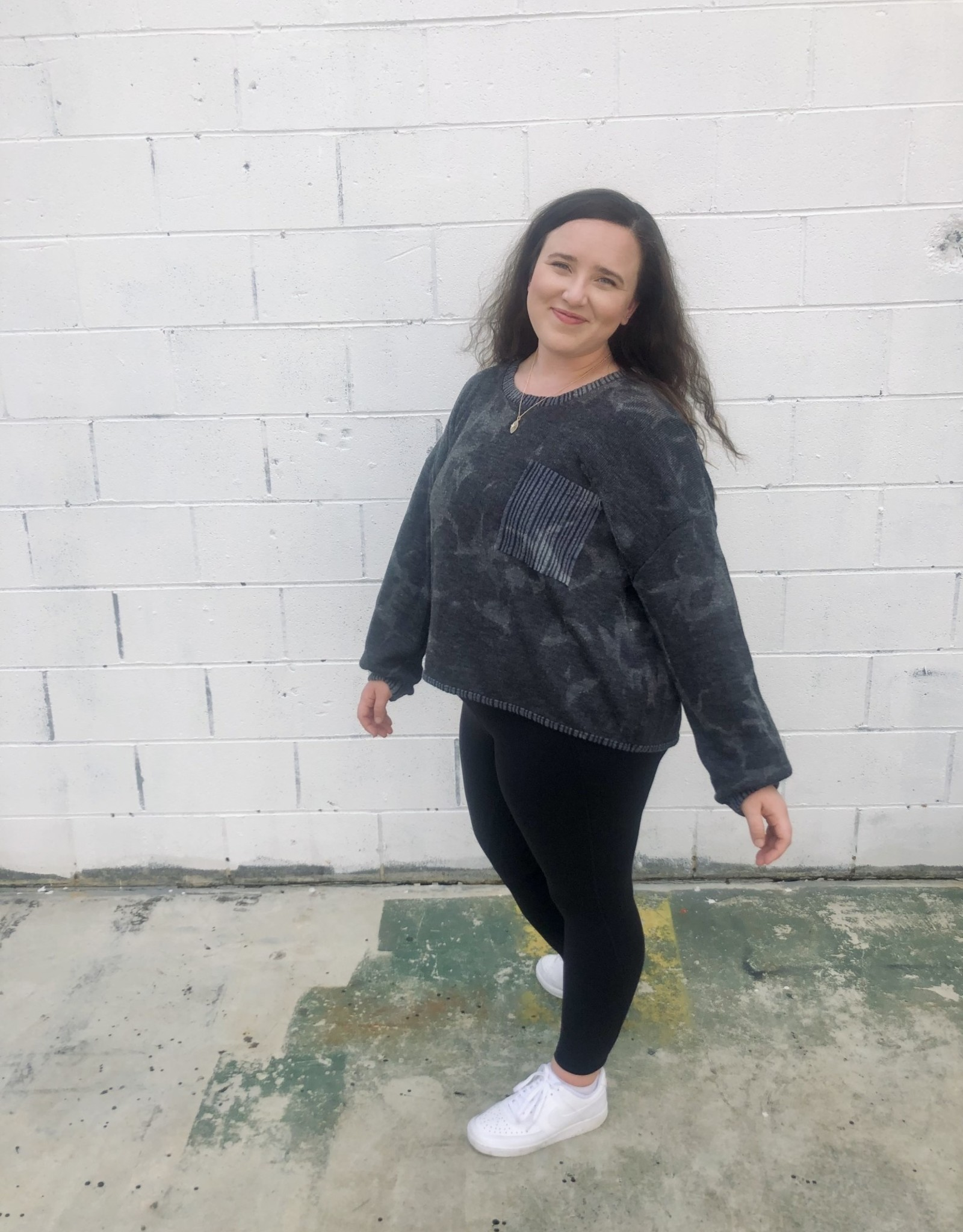 Halo Dyed Charcoal Top