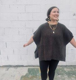 Halo Olive Poncho Sweater
