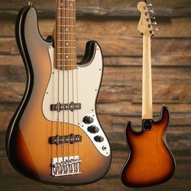 Squier Affinity Jazz Bass V (5 String), Rosewood Fingerboard, Brown Sunburst - Used
