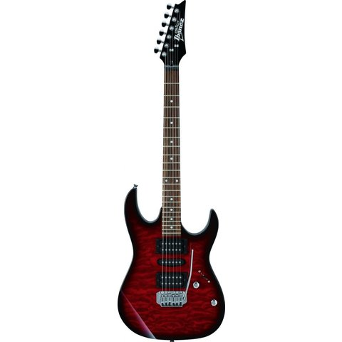Ibanez GRX70QATRB Gio Tremolo Electric Guitar Transparent Red Burst