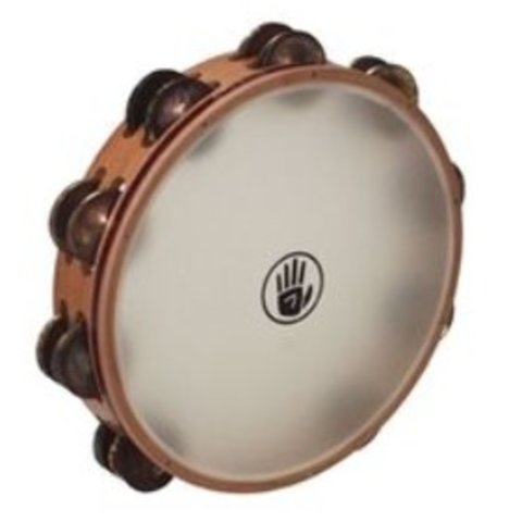 BSP 10'' Double Row, Aged Brass, Synthetic Head Tambourine