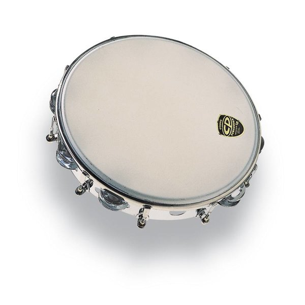LP CP 10'' Tambourine Tunable Metal Double Row