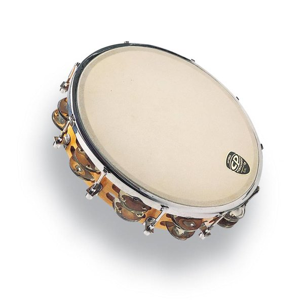 LP CP 10'' Tambourine Tunable Wood Double Row