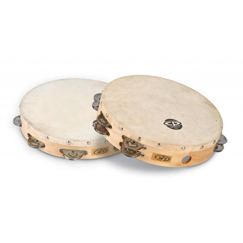CP 10'' Tambourine W/Head Double Row