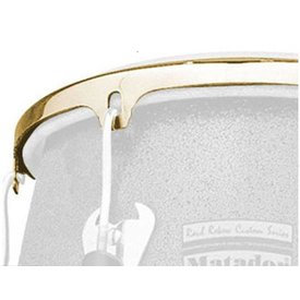 DW DROPSHIP LP Series 12 1/2 Cc2 Conga Rim  Gold LP736B
