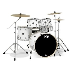 PDP PDP Main Stage Ms 5Pc, 22Bd, Hw, Paiste Cym, White Finish Ply PDMA2215P8WH