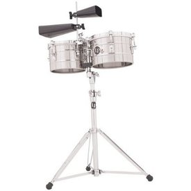 LP LP LP Series Timbalitos Steel W/Stand Stainless Steel LP272-S