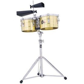 LP LP LP Series Timbalitos Brass W/Stand Brass LP272-B