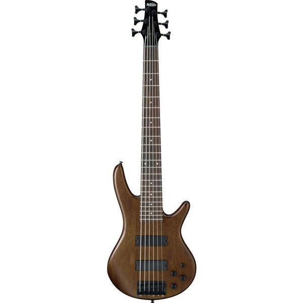 Ibanez Ibanez GSR206BWNF Gio Soundgear 6-String Electric Bass Guitar Walnut Flat