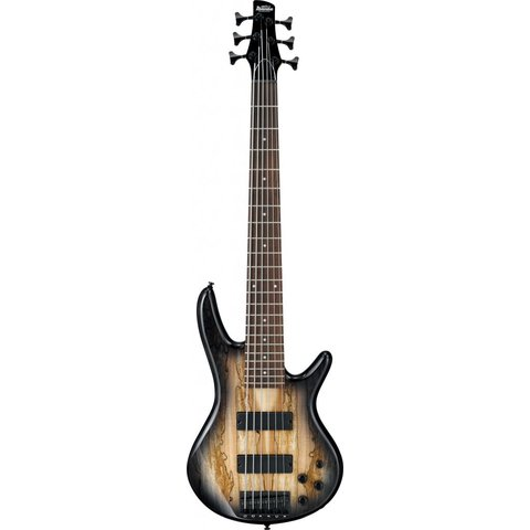 Ibanez GSR206SMNGT Gio Soundgear 6-String Elect Bass Guitar Natural Gray Burst