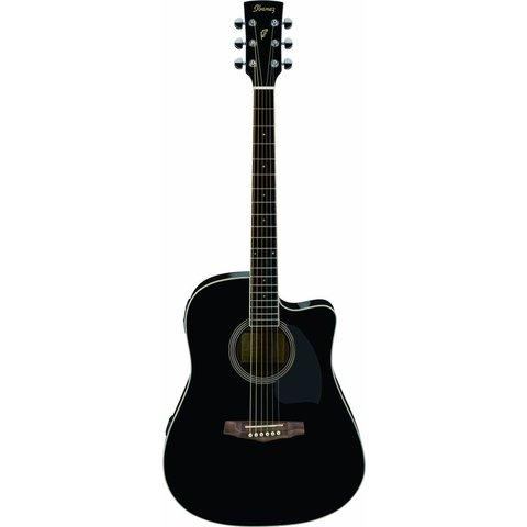 Ibanez PF15ECEBK Performance Acoustic Electric Guitar Gloss Black