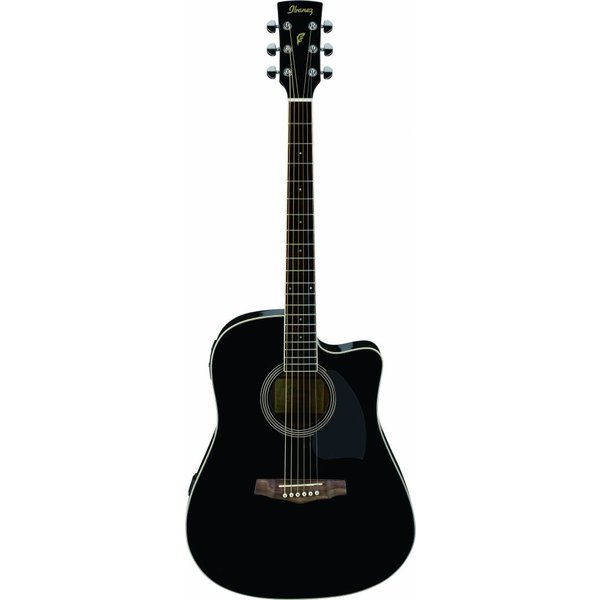 Ibanez Ibanez PF15ECEBK Performance Acoustic Electric Guitar Gloss Black