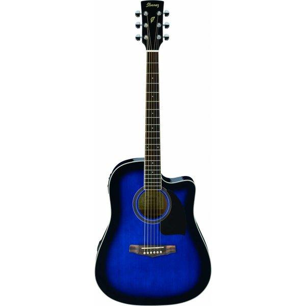 Ibanez Ibanez PF15ECETBS Performance Acoustic Electric Guitar Transparent Blue Sunburst