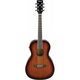 Ibanez Ibanez PN12EVMS Performance Acoustic Electric Parlor Guitar Natural Mahogany