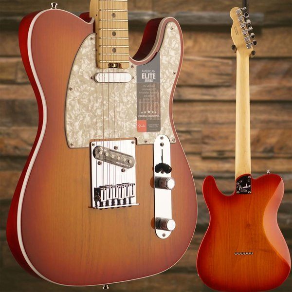 Fender American Elite Telecaster, Maple Fingerboard, Aged Cherry Burst