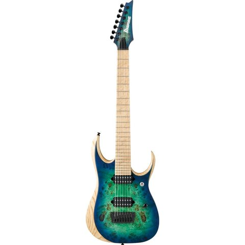 Ibanez RGDIX7MPBSBB RGD Iron Label 7-String Electric Guitar Surreal Blue Burst