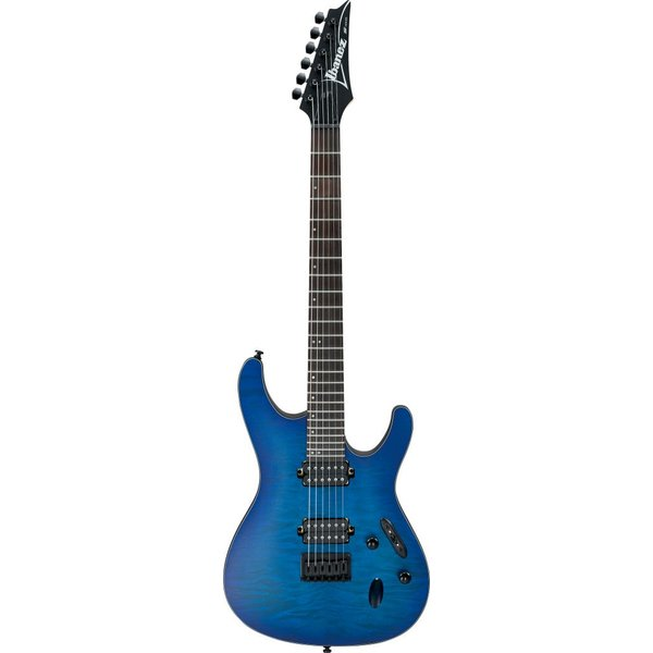 Ibanez Ibanez S621QMSBF S Series Electric Guitar Flat Sapphire Blue