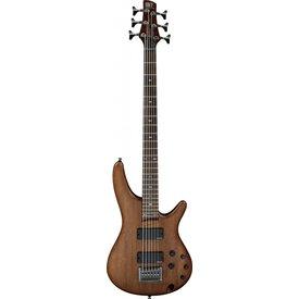 Ibanez Ibanez SRC6WNF SR Soundgear 6-String Electric Bass Guitar Walnut Flat