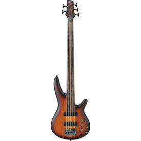 Ibanez Ibanez SRF705BBF SR Soundgear 5-String Fretless Electric Bass Brown Burst Flat