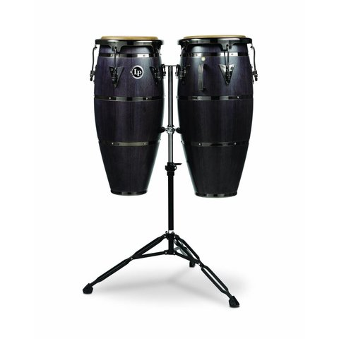 LP 10'' & 11'' Highline Congas w/ Matador Stand, Ebony Stain