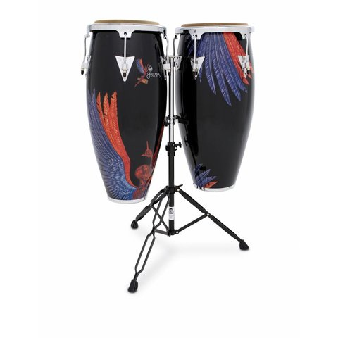 LP Aspire Santana Abarxas 10'' 11'' Wood Conga Set w/ Stand