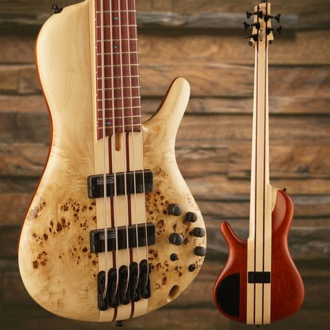 Ibanez SRSC805NTF SR Soundgear Cerro 5-String Electric Bass Guitar Natural Flat