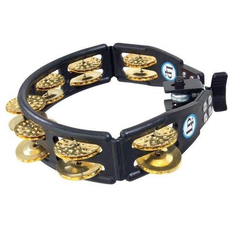 LP Cyclops Brass Mountable Tambourine Black