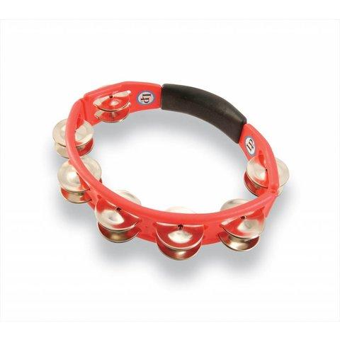 LP Cyclops Handheld Tambourine Red Steel Jingles