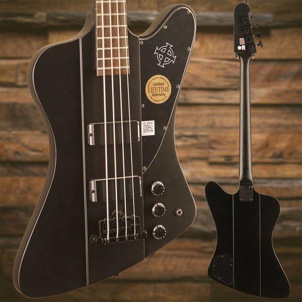 Epiphone Epiphone EBTBPBBH1 Goth Thunderbird-IV Bass Black Satin Black Hardware