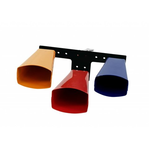 LP Giovanni 3-Melody Bells Set, Large, Low Pitch, Colored