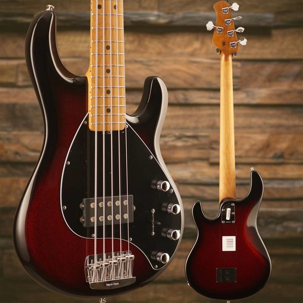 Music Man Ernie Ball Music Man StingRay 5 Burnt Apple Roasted Maple Neck/Maple Black