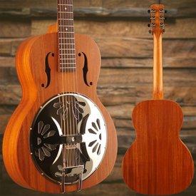Gretsch Guitars Gretsch G9241 Alligator Biscuit Round-Neck Resonator Gtr w/ Fishman Nashville Pickup, 2-Color SB
